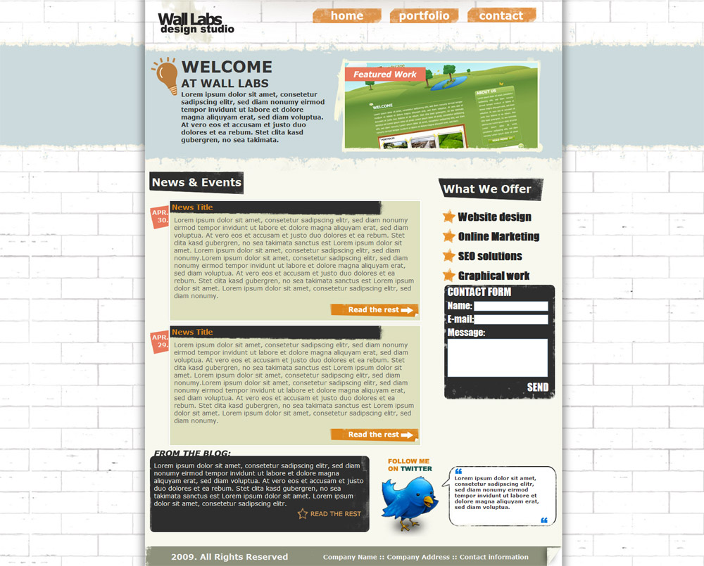 Free Download Wall Labs Grunge Style Design Template Nulled Latest Version