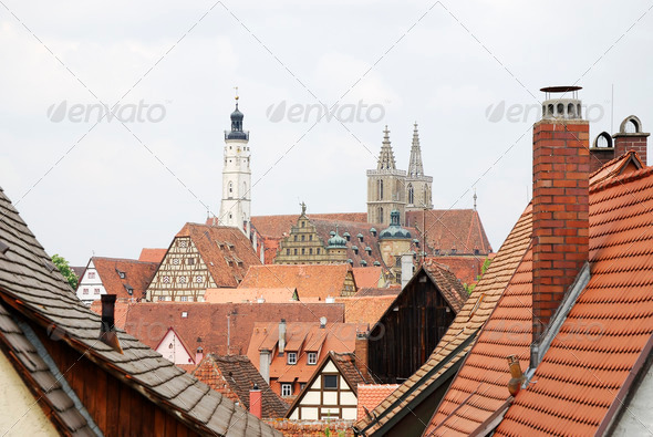 Roofs of Rothenburg - Stock Photo - Images