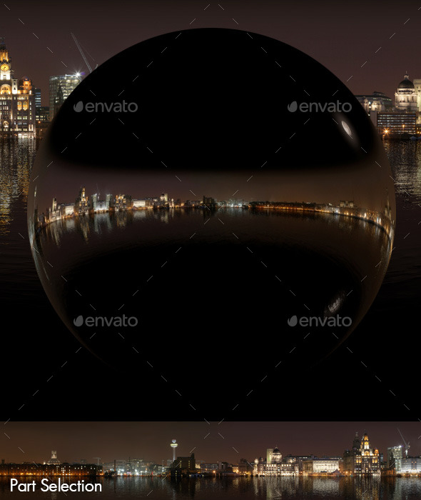 Sea Reflections Night City Skyline HDRI - 3DOcean Item for Sale