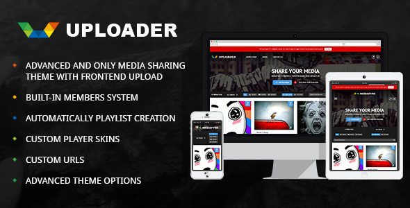 Uploader – Advanced Media Sharing Theme
