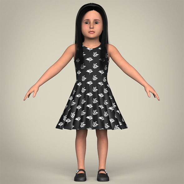 Realistic Little Girl - 3DOcean Item for Sale