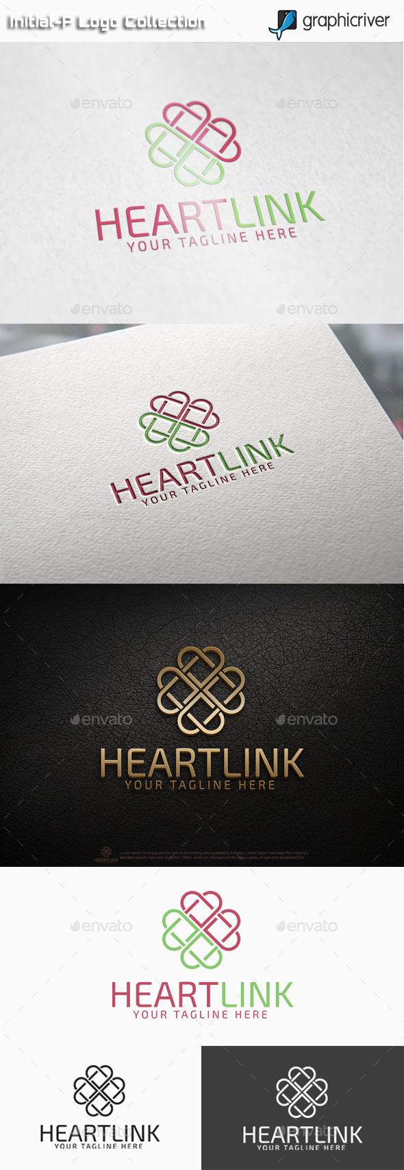 Heart Link Logo - Abstract Logo Templates