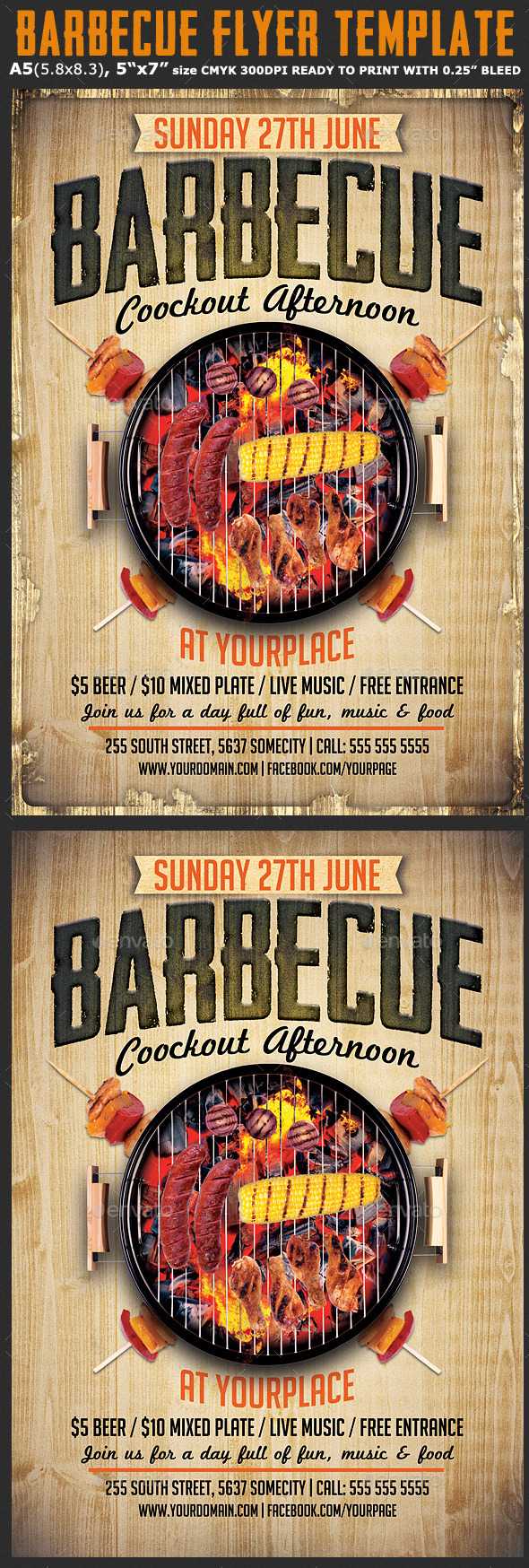 Barbecue Flyer Template   Events Flyers  Flyer Outline