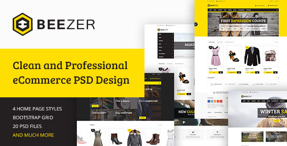 BEEZER - eCommerce PSD Template - Fashion Retail