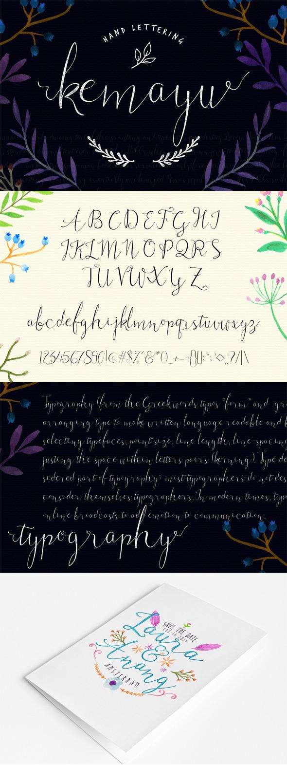 Kemayu Hand Lattering - Hand-writing Script