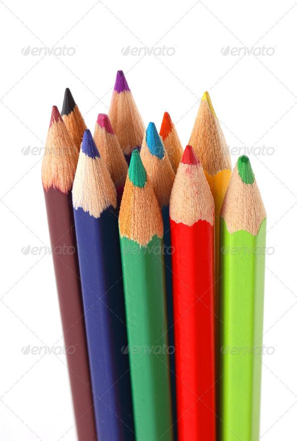 Color pencils. - Stock Photo - Images