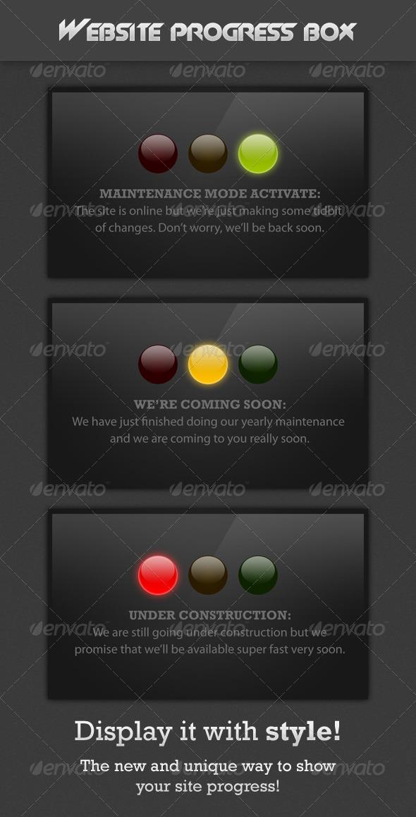 Website Progress Box - Web Elements