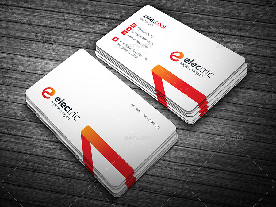 Charming Electric Business Card Contemporary - Business Card Ideas ...
