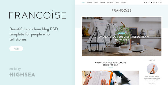 Francoise – Blog PSD Template