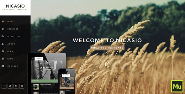 Nicasio Creative Muse Template - Creative Muse Templates