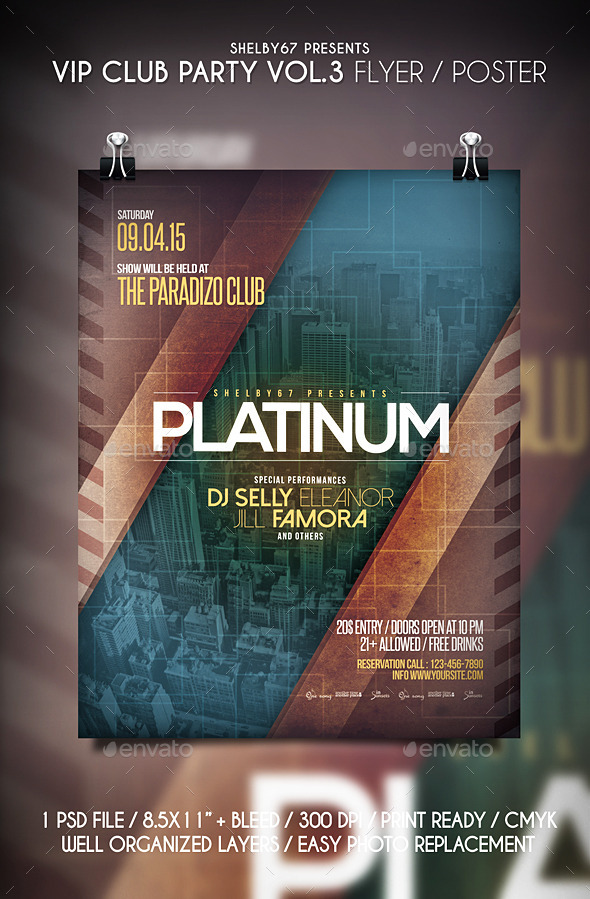 VIP Club Party Flyer / Poster Vol.3 - Clubs & Parties Events