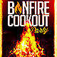 Bonfire Cookout Party Flyer - GraphicRiver Item for Sale