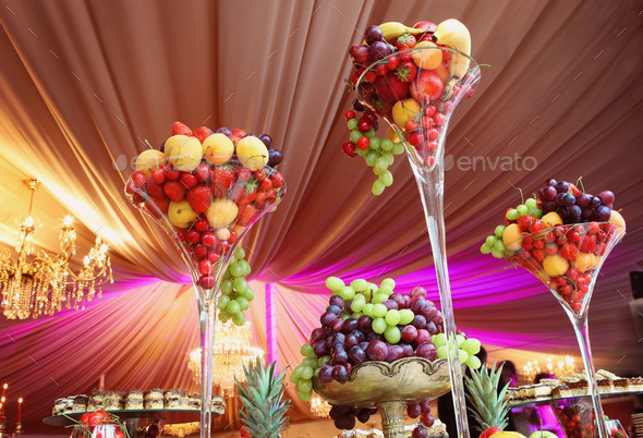 Wedding decoration with fruits - Stock Photo - Images