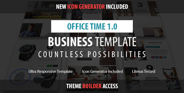 Office Time – Responsive Email + Builder Access