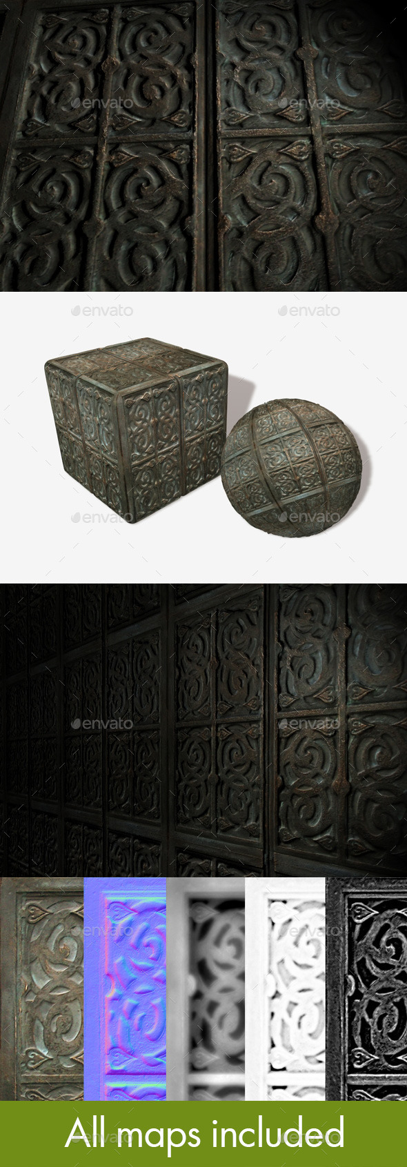 Antique Box Seamless Texture - 3DOcean Item for Sale