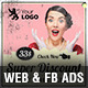 Retro Sale 002 Web & Facebook Banners Ads - GraphicRiver Item for Sale