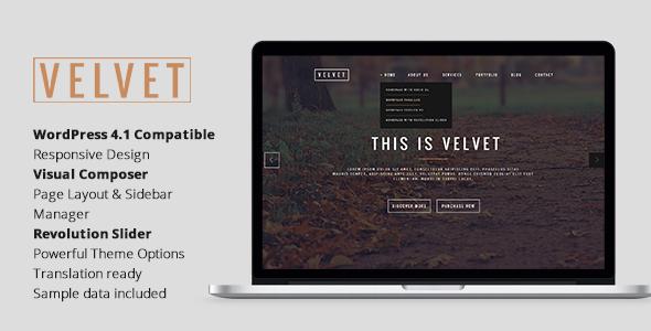 Velvet – Responsive OnePage WordPress Theme
