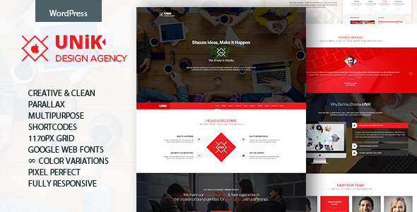 Unik – Creative Multipurpose WordPress Theme