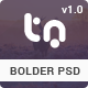 Bolder - Trendy One Page PSD Template