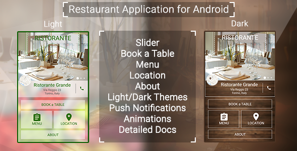 Restaurant App with Push Notifications - CodeCanyon Item for Sale