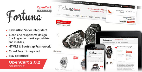Fortuna – Elegant and responsive OpenCart theme