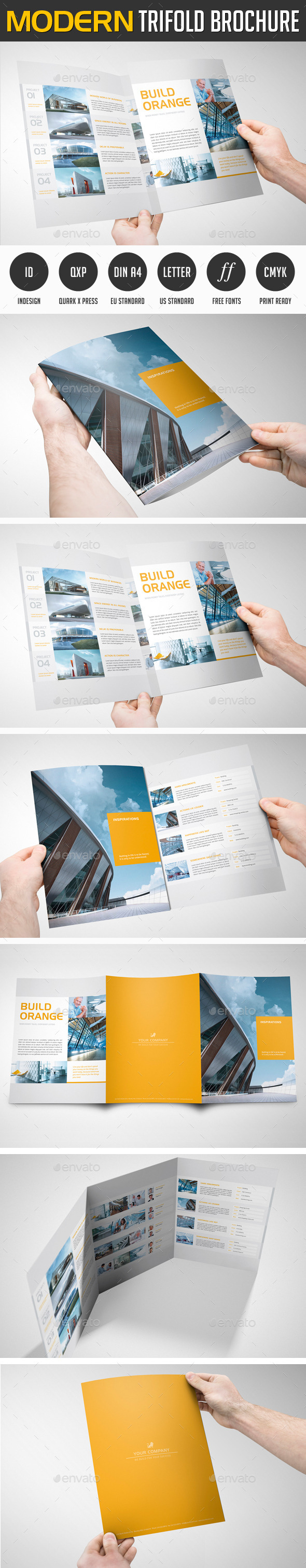 Modern Project Tri-Fold Brochure - Print Templates