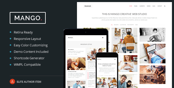 Mango – Multipurpose Portfolio & Business WP Theme