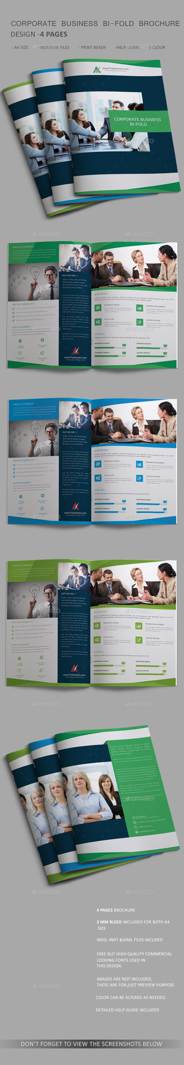4 page brochure template free akba greenw co