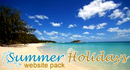 Summer Holidays website pack