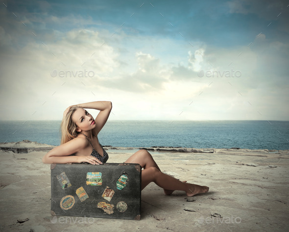 At the beach - Stock Photo - Images