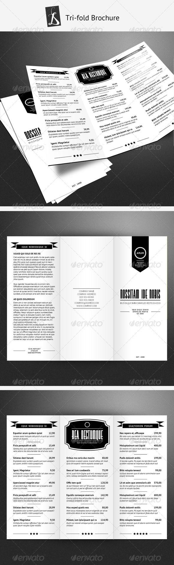 Tri-fold Brochure 2 - Food Menus Print Templates