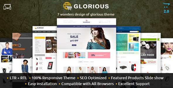 Glorious – Opencart Responsive Theme
