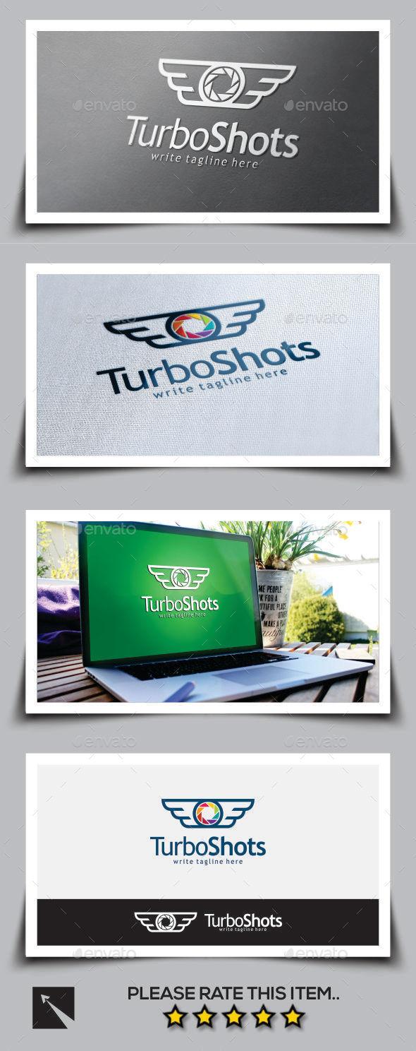 Turbo Shot Wing Logo Template - Logo Templates