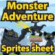 Monster Adventure Sprites Sheet - GraphicRiver Item for Sale