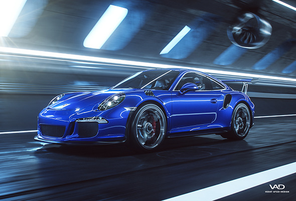 Porsche 911 GT3 RS - Octane Render Scene - 3DOcean Item for Sale