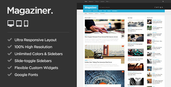 Magaziner – Responsive WordPress Magazine Theme