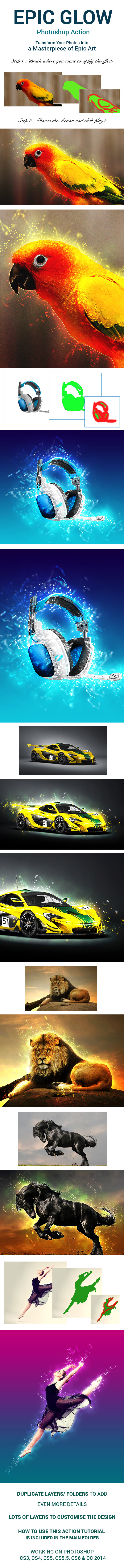 Epic Glow Photoshop Action - Photo Effects Actions