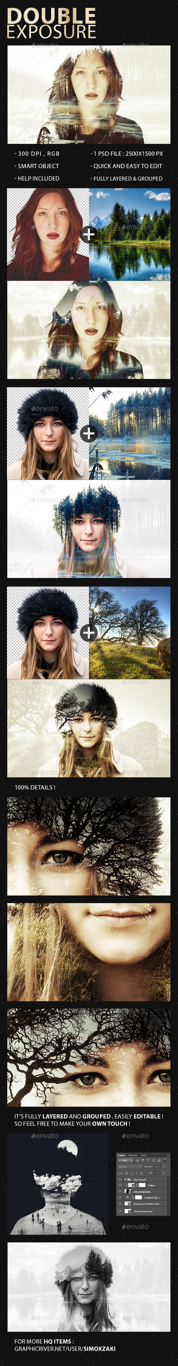 Double Exposure Maker - Photo Templates Graphics