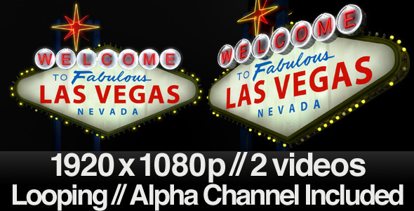 Welcome to the Fabulous Las Vegas Sign + Alpha by butlerm | VideoHive