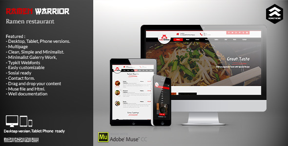 Ramen Warrior - Asian Restaurant Muse Template - Miscellaneous Muse Templates