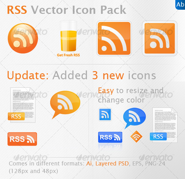 Fresh RSS Icon Pack - Web Icons