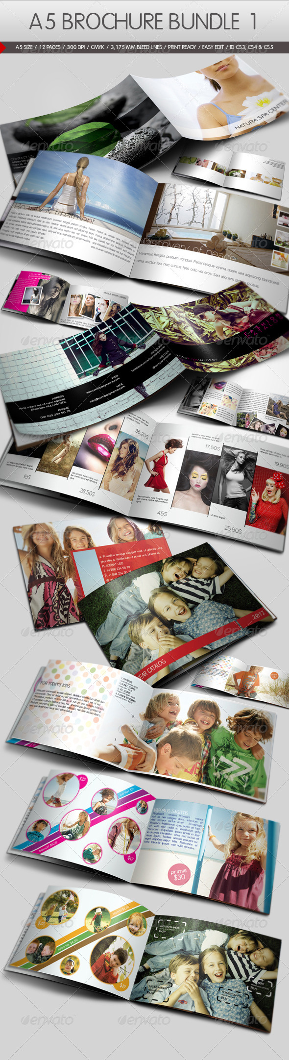 A5 Brochure Bundle I - Corporate Brochures