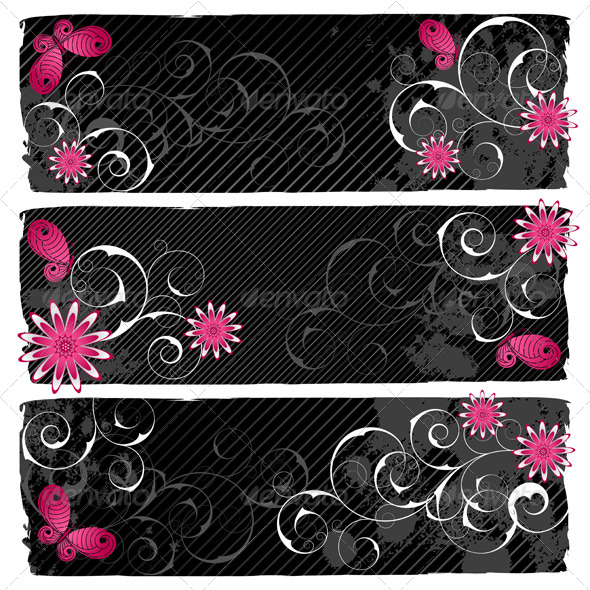 Emo Banners - Backgrounds Decorative