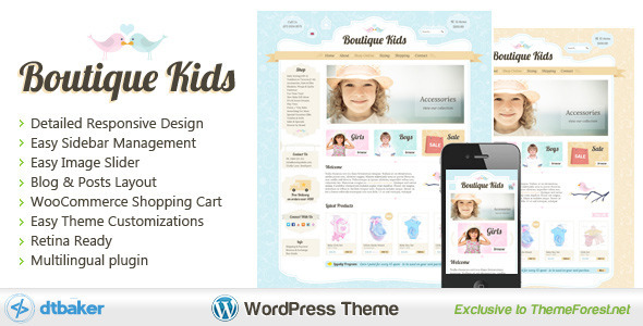 Boutique Kids Creative – WordPress WooCommerce