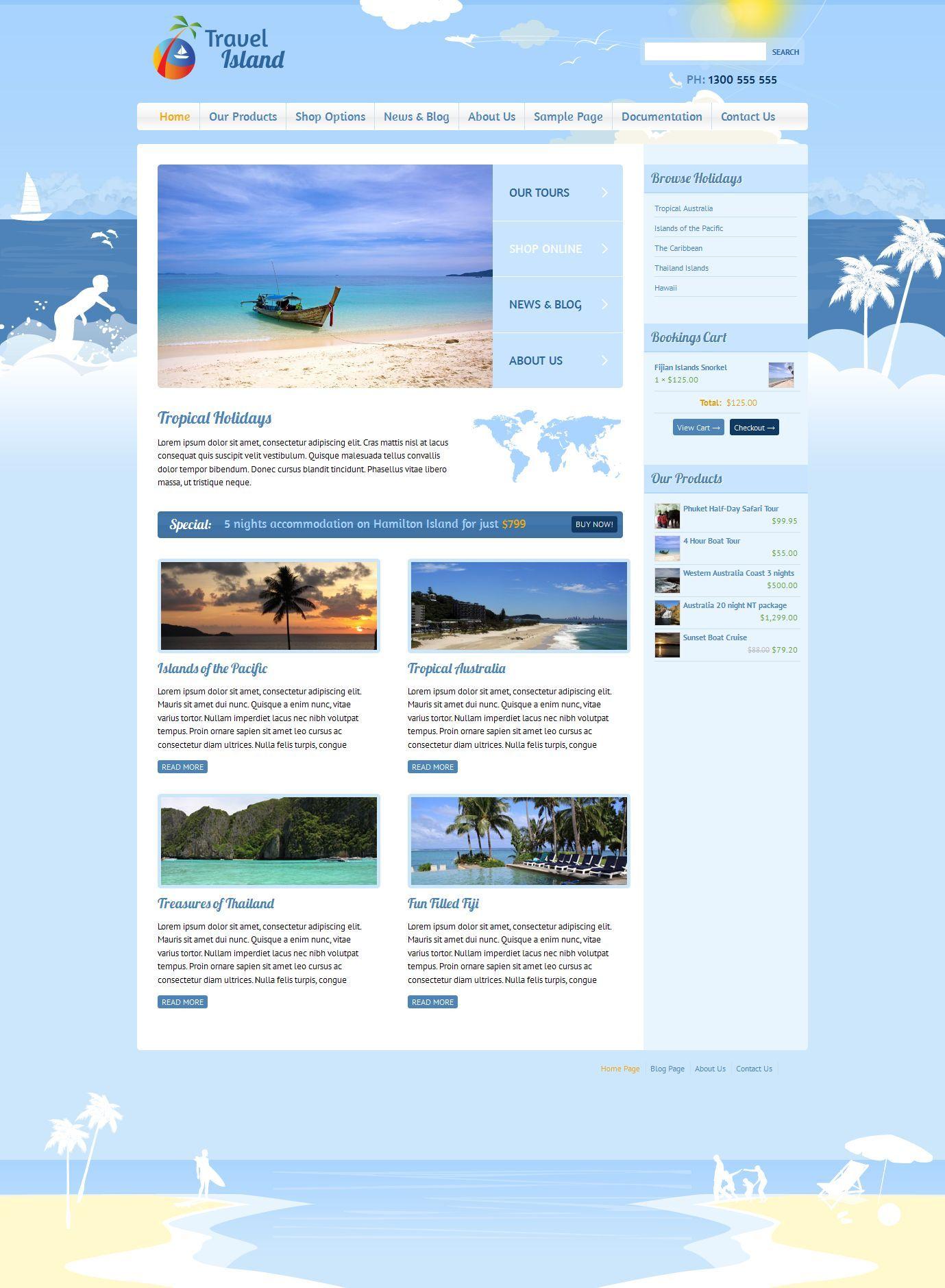 Travel Island WordPress by dtbaker   ThemeForest