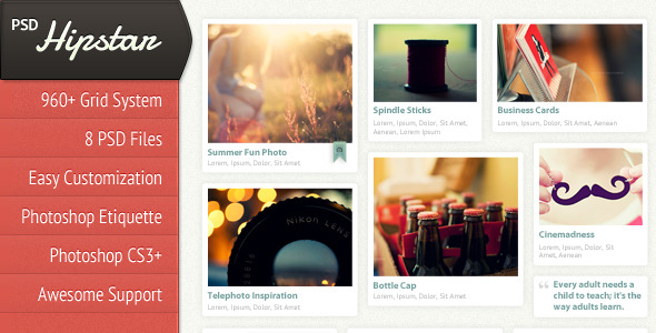 Free Download Hipstar - Creative PSD Template Nulled Latest Version
