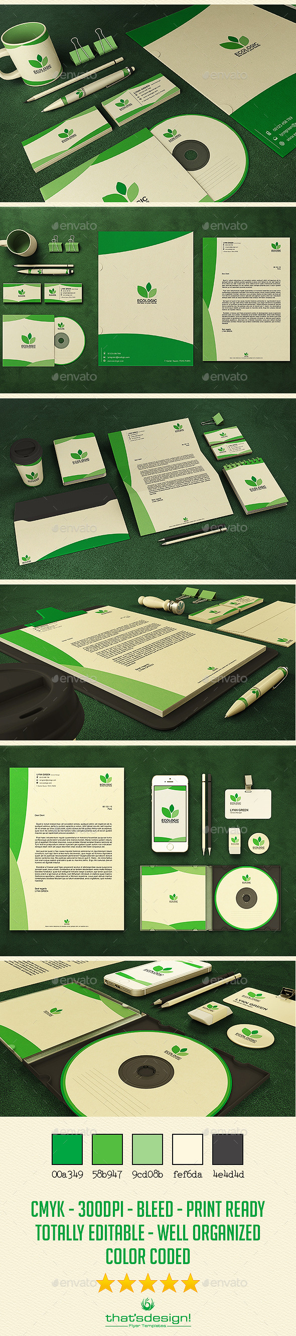 Green and Ecologic Corporate Identity - Stationery Print Templates