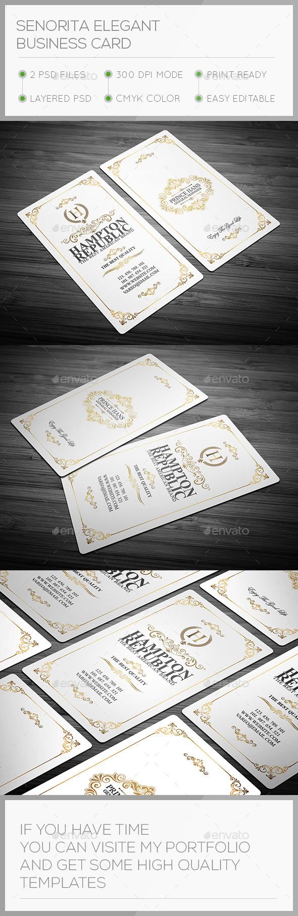 Senorita Elegant Business Card - Corporate Business Cards