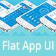Flat Mobile App UI Kit - GraphicRiver Item for Sale