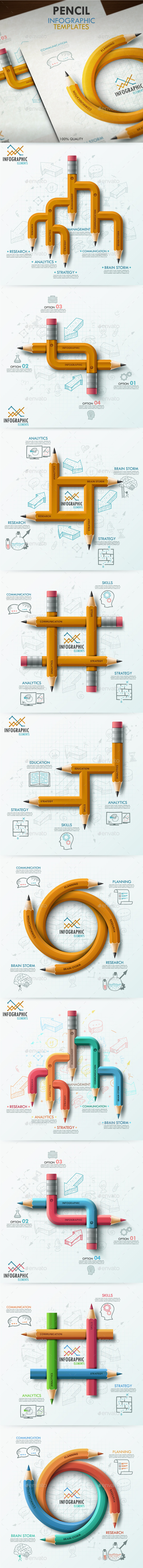 The Seventh Bundle. Pencil Infographics - Infographics